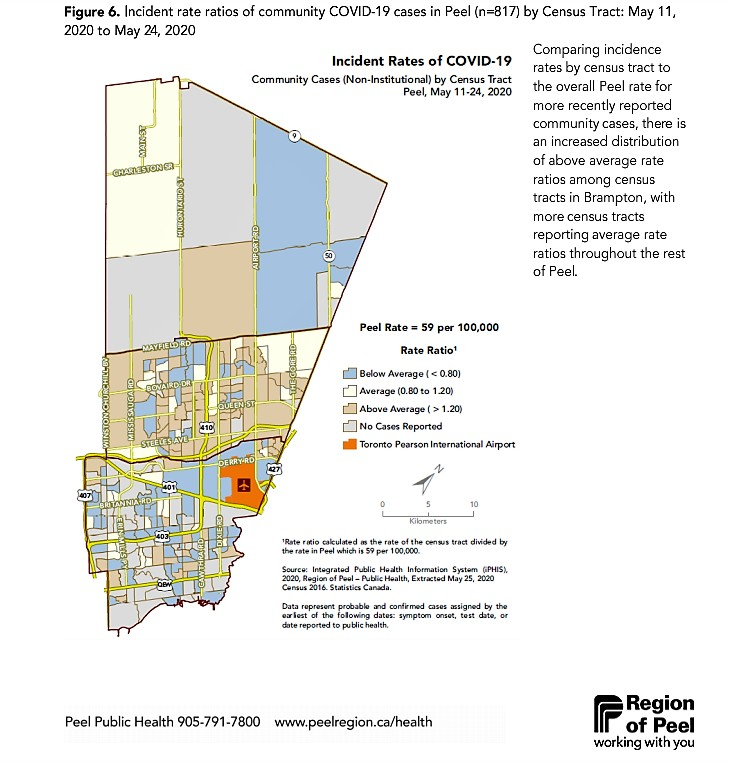 Peel Targeted In Province S New Testing Plan As New Maps Show High Neighbourhood Infection Rates Across Brampton The Pointer
