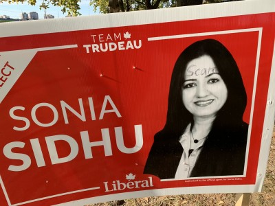 Liberals' Sonia Sidhu reports 'hundreds' of signs stolen or vandalized as candidate conflict dominates campaign