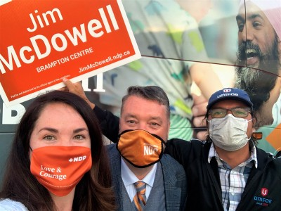 NDP Brampton Centre candidate Jim McDowell vows to fight for workers & healthcare funding