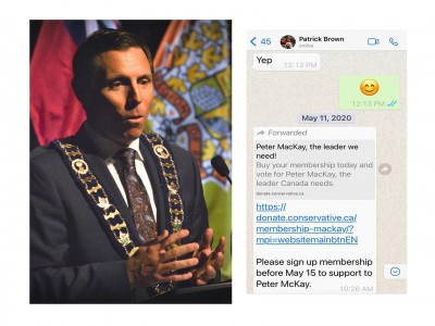 Patrick Brown appears to have violated rules by secretly directing City staff to campaign for Peter MacKay