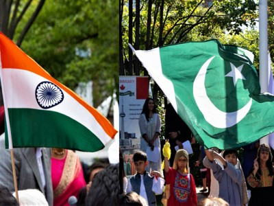 While India and Pakistan push closer to confrontation, two communities come together at city hall