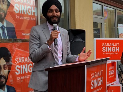 Youthful team backs NDP candidate Saranjit Singh in Brampton East