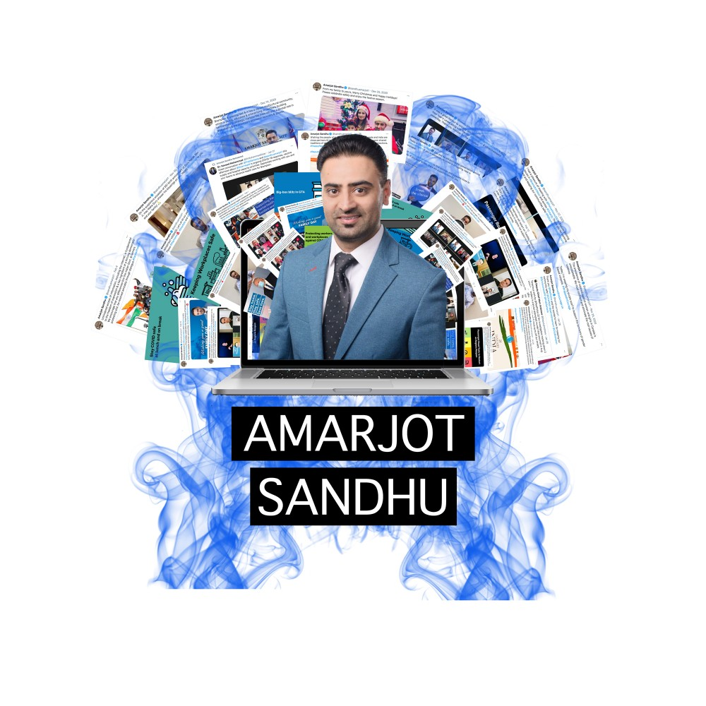 Amarjot Sandhu's glaring social media disconnection from the residents he's supposed to represent