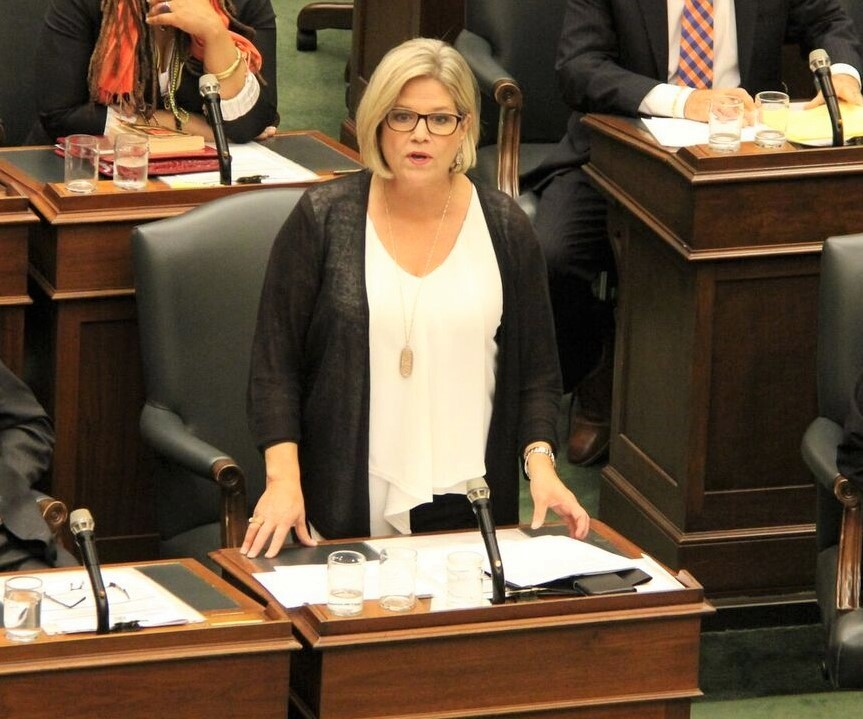 Andrea Horwath, Brampton's opposition MPPs call out Ford government on cancelled campus funding
