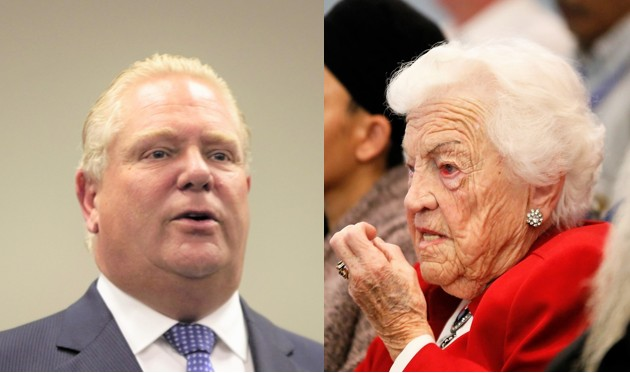 Hazel McCallion and Doug Ford are a deadly duo for anyone who cares about the Greenbelt and Peel Region