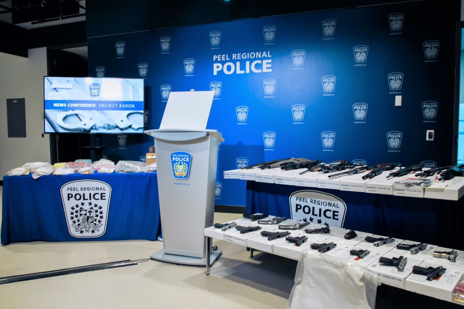 Historic seizure of guns and drugs highlights continuing criminal violence in Peel