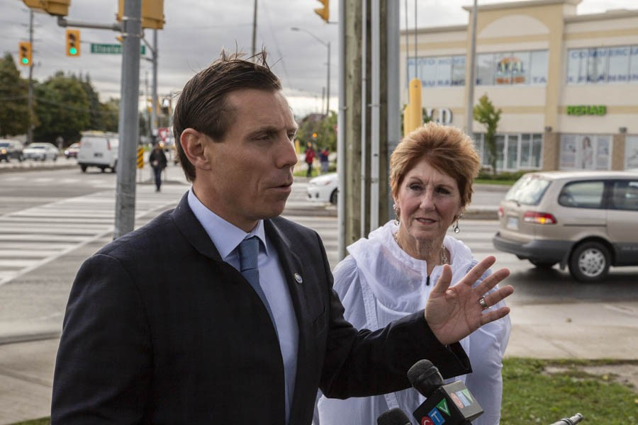 Patrick Brown promises better GO Train service, transit funding to combat increasing traffic congestion
