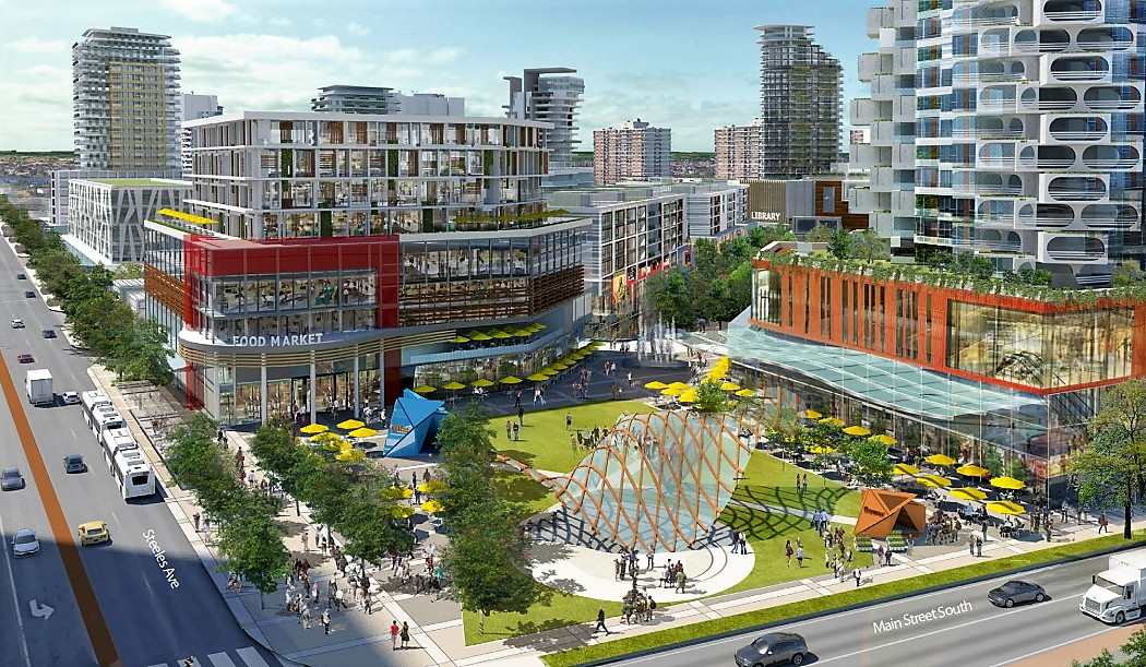 RioCan's plan for an integrated mixed-use community at Shoppers World Brampton