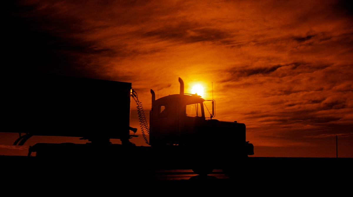 Truckerseat upmillions of kilometres of asphalt to keep us safe in the timeof coronavirus