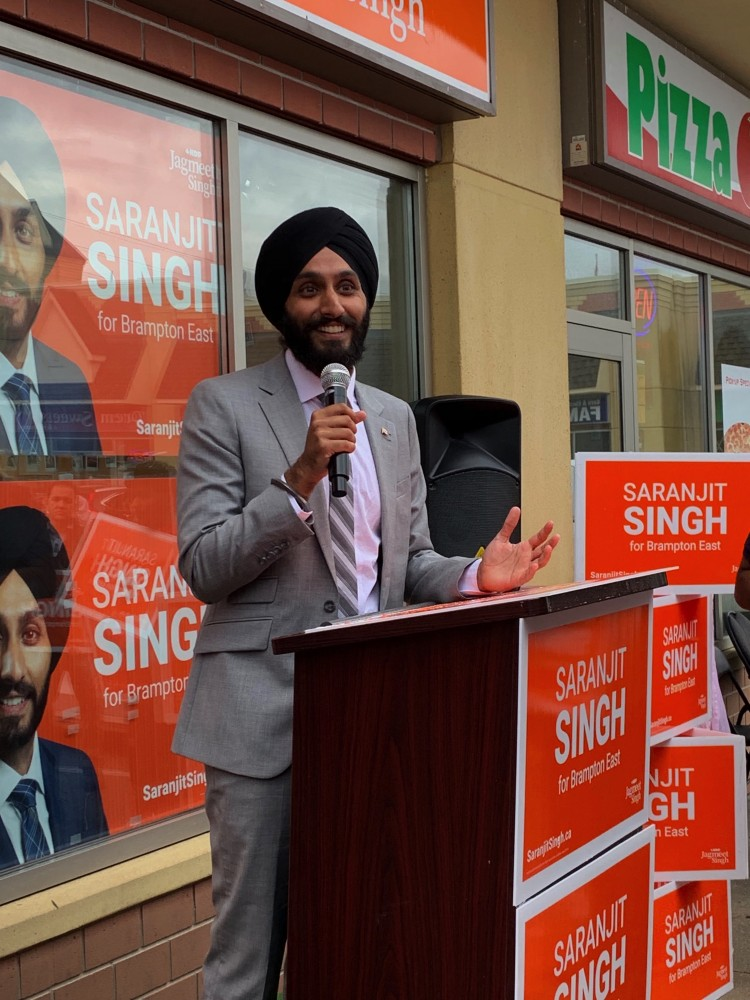 Youthful Team Backs Ndp Candidate Saranjit Singh In Brampton East The Pointer